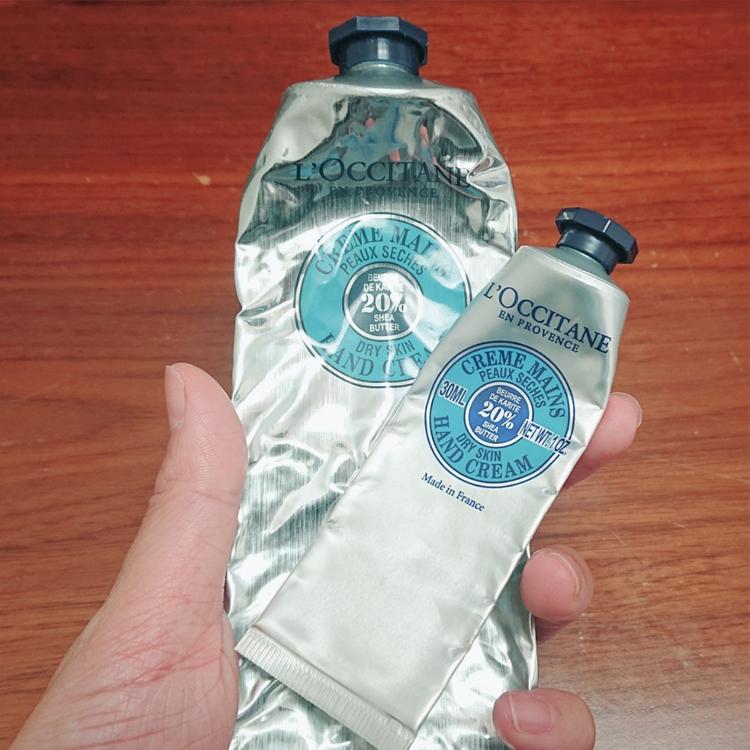 ロクシタン シア ハンドクリーム 大サイズ小サイズ